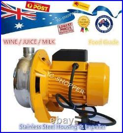 1HP Stainless Steel Centrifugal Pump Food Grade Water WINE JUICE MILK