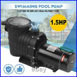 1.5 HP Swimming Pool Spa Water Pump 110 Volt Outdoor Above Ground Strainer Motor