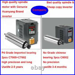 2.2KW ER20 Water Cooling Spindle Motor+VFD+Water Pump+Tube+Clamp+Collet Huanyang