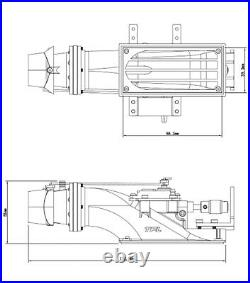 3660 KV1620 Brushless Motor Water Thrust Jet Pump 29mm CNC Prop for RC Jet Boat