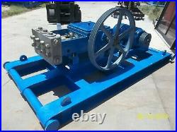 60 HP Triplex Water Injection Pump On Skid With 40 HP Motor For Oilfield