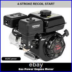 7.5HP 212CC Gas Powered Go Kart Log Splitter Water Pump Engine Motor US Stock