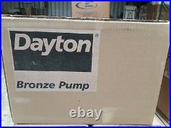 DAYTON Self Priming Pump bronze pump Oil, hydraulic fluid, Water LEESON Motor