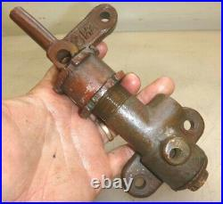 UNKNOWN BRASS FUEL PUMP or WATER 3hp Old Gas Hit and Miss Engine or Boat Motor